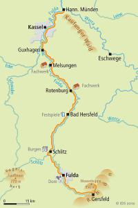 Fulda Radweg Karte