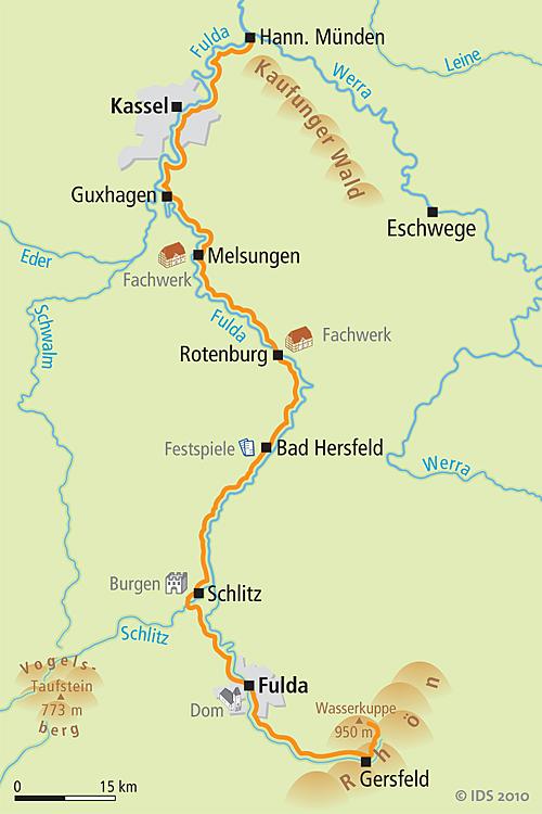 Weser Radweg Karte.Fulda Radreise über Den Radwegfulda Radweg Der Fulda Radweg Von